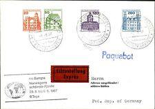 Schiffspost Brief Eilzustellung Schiff MS EUROPA Paquebot v.d. Norwegen Reise