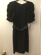 ABS by Allen Schwartz Black Dress with Short Sleeves, Size 2 NWT