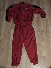 NIKE Bauer Track suit Hockey Ice Skating pants L red Canada