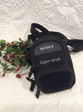 Vintage Sony Cyber-Shot Camera Canvas CARRY CASE ONLY With Adjustable Strap
