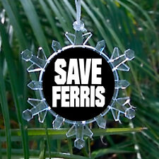 Save Ferris Bueller's Day Off Snowflake Blinking Holiday Christmas Tree Ornament