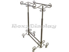 Display Clothes Rack Double Rolling Rack #Rk-03D1