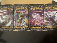 Pokemon Full Art Set 4x Sun and Moon Lost Thunder Booster Packs New & Sealed