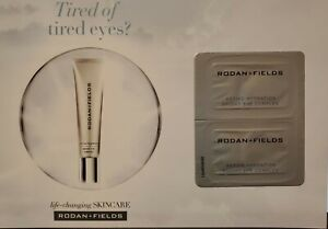 10 Rodan + Fields Active Hydration Bright Eye Complex Sample Cards 20 Day Supply