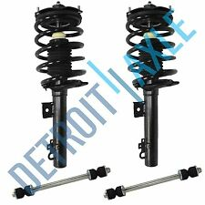 New 4pc: 2 New Complete Rear Strut Assembly + 2 Stabilizer Bar Links for Sedan