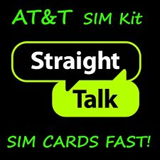 Straight Talk Sim Card for At&T Gsm Network Activation Kit - Fast Free Shipping!