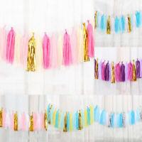 1 Set Paper Tassels DIY Tissue Bunting Wedding Birthday Garland Party Decor Xmas