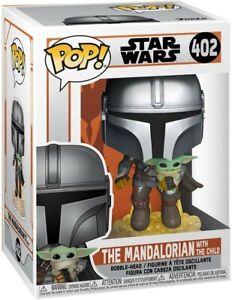 Funko - POP Star Wars: The Mandalorian Flying w/ The Child Brand New In Box