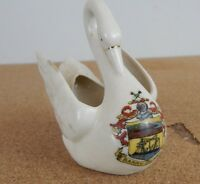 Crested Ware China Swan Barry Island  8cm x 8cm