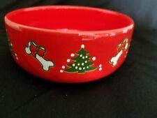 Waechtersbach Germany Red Christmas Dog Bowl