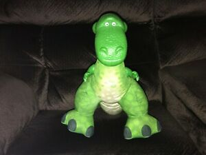 "FISHER-PRICE TOY STORY PLUSH REX TOY DINOSAUR 14"" - SQUEEZE TO MAKE NOISE"
