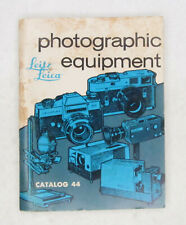 Vintage 1971 Leitz Leica  Catalog No. 44 Booklet featuring M4; Leicaflex