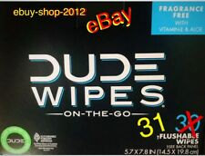 """DUDE WIPES """"31"""" Single Wipes...30 Pack Box + 1 = 31 WIPES...Fast Shipping!🚽🚨"""