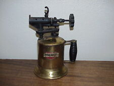VINTAGE MERIT BRASS BLOW TORCH WITH GREAT OLD PATINA