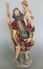Heiliger Christophorus Holz geschnitzt ca. 38 cm hoch,bemalt Namenspatron Nr. IE