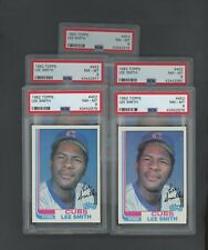 LOT (5) 1982 Topps #452 Lee Smith Cubs RC Rookie HOF PSA 8 NM-MT