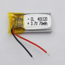 3.7V 70mah Li-Polymer Li-ion battery 401120 for mp3 GPS bluetooth headset record