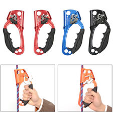 Right/Left Hand Ascender Rock Tree Climbing Rope Clamp Caving Rescue Gear