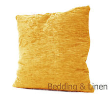 "Luxury Plain Chenille Gold Cushion Covers Soft Room Decor Sofa Size 18"" x 18"""