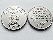 Angel Blessing Coin - Double Sided Coin - Christening, Confirmation Gift