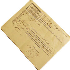 Authentic 1870's Legal Document Handwritten & Types In Ink Manuscript Old Rare