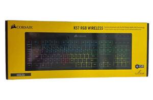 Corsair K57 RGB Wireless Gaming Keyboard - Black, Wired or Wireless, Bluetooth