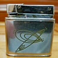 Vintage Working Silver Tone Fisher Double Case Lighter