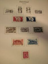 Raccolta Saarland Saar 1947-1959 timbrato con molte spese migliore (1116)