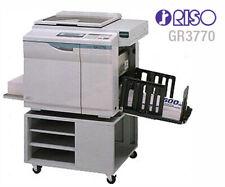 Riso Gr3770 Color High Speed Digital Duplicator
