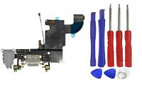 OEM Gray Charging Port Headphone Jack Mic Flex Cable For iPhone 6S 4.7'' + Tools