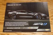 Original 2019 Chevrolet Corvette ZR1 Fact Sheet Sales Brochure 19