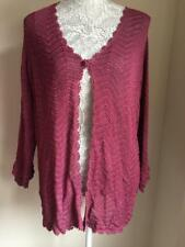 essence Womens Dark Pink Cardigan Size 22-24 (57)