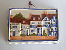 1981 VINTAGE HOUSE WALL ART HANGING PLAQUE DECORATIVE-HANDCRAFTED-JAPAN