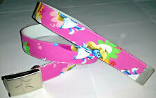 Smurfettes Belt & Buckle Children's Kids Adjustable Boys Girls Pink Blue Cartoon