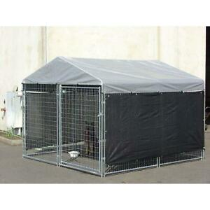 34 ft. x 57 in. Windscreen Shade Cloth Dog Kennel Outdoor Cage Extra Large Big