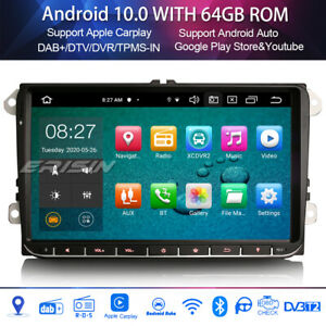 "9"" Android 10.0 radio dab + ops for vw passat golf 5 tiguan seat skoda 8-core"