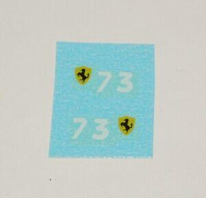 Matchbox 1-75  73B Ferrari Number and Badge Decal Set (#306)
