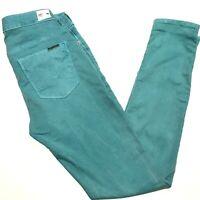 Hudson 26 Nico Super Skinny Midrise Stretch Jeans Green Pants Womens 29 Inseam