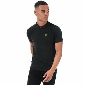 Men's Luke 1977 Willtape Polo Collar Short Sleeve Cotton Polo Shirt in Black