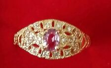 14 Kt Pink Saphire Ring