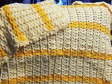 New! Handmade Crochet Blanket Throw Afghan  - Yellow, Butterscotch