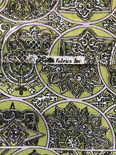 1.5 Yrds Vintage Bates Fabric Green Lavendar