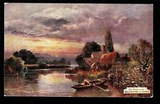 Tuck artist signed Old Watermills Wallingford on Thames UK postcard