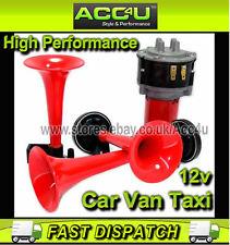 12v Car Van Taxi 600Hz 765Hz 810Hz 3 Pipe Loud Music Sound Air Horn Kit