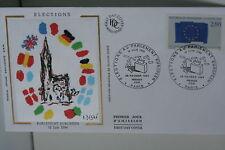 ENVELOPPE PREMIER JOUR SOIE- 1994 PARLEMENT EUROPEEN
