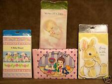 Baby Announcements Photo Album Baby Shower Invitations Lot of 4