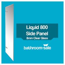 Liquid 800mm Bathroom Side Panel Chrome Frame Clear Glass - 8mm | RRP: £479