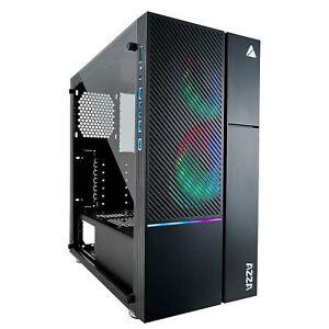 AZZA Iris 330 Gaming-Gehäuse ATX RGB LED Glasfenster MidiTower Leuchtstreifen