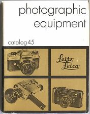 Leitz LEICA PHOTOGRAPHIC EQUIPMENT Catalog #45 Vintage Manual Camera Guide Book