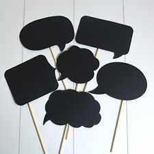 6x Speech Bubble Chalkboard Paper Photo Booth Photobooth Props Photography DIY